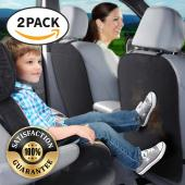 REDshield Car Seat [2 Pack] Protectors, [Black] Auto Car Seat Back Protector Kick Mat Protects From Dirt, Scuffs & Scratches