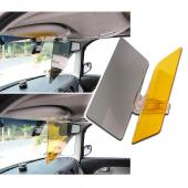 RED SHIELD Car Sun Visor Extender. 2 Transparent Anti-Glare Tinted Shields for Day and Night. Blocks UV Rays Through Windshield. Universal for All Vehicles. Drive Safely with Enhanced Visibility.