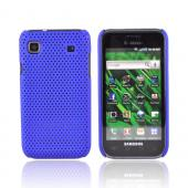 Premium Samsung Vibrant/Galaxy S 4G Rubberized Back Cover Case - Mesh Blue