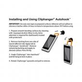 Original ClipHanger Autohook Universal Adhesive Clip - Black (Works Great w/ ClipHanger Stick & Pivit)