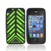 Original Case-Mate Apple iPhone 4 Torque Silicone Case w/ Screen Protector, CM022347 - Green/Black