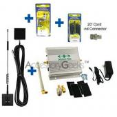 Universal 3 Watt Wireless Dual Band Booster Amplifier Package I (Glass Mount Antenna Included)