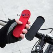 Red Coda S Universal 3-in-1 Portable Bluetooth Stereo Speaker Handset w/ Bike Mount, Sun Visor Clip, & Outdoor cradle