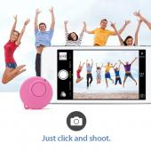 Baby Pink CODAClick One-Buttoned Bluetooth Smart Remote for both Apple & Android - Take the Perfect Selfie!
