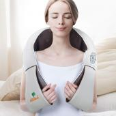 Hueplus CORDZERO-750 Cordless Premium Shiatsu Back Neck Shoulder Massager with Heat - Deep Kneading Pillow with Heated 3D Tension Technology Best for Muscle Knots and Sore Muscles at Home or Office