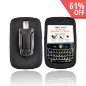 Original Body Glove Blackberry Bold 9000 Silicone Case w/ Belt Clip Kickstand, CRC90896 - Black