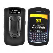 Original Body Glove Blackberry Curve 8900 Silicone Case w/ Adjustable Kick Stand & Belt Clip, CRC91004 -Black