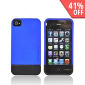 Original Body Glove AT&T/ Verizon Apple iPhone 4, iPhone 4S Slim Slide-On Icon Rubberized Hard Case, CRC92513 - Blue/ Black