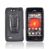 Original Body Glove Motorola Droid 4 Snap-On Case w/ Detachable Kickstand Belt Clip, CRC92563 - Black