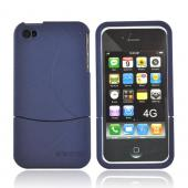 Original Seidio Apple Verizon/ AT&T iPhone 4, iPhone 4S Innocase Surface Rubberized Hard Case, CSR3IPH4P-BL - Sapphire Blue
