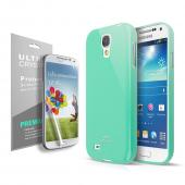 Cellto Anti-Slip TPU Crystal Silicone Skin Case for Galaxy S4 Mini Mint