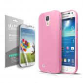 Anti-Slip TPU Crystal Silicone Skin Case for Galaxy S4 Mini Pink