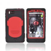 Original Trident Cyclops Motorola Droid X Silicone on Rubberized Hard Case, CY-DX-RD - Black/Red
