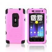 Original Trident Cyclops II HTC EVO 3D Anti-Skid Hard Cover Over Silicone w/ Screen Protector, CY2-EVO-3D-PK - Pink/ Black