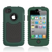 Original Trident Cyclops II AT&T/ Verizon Apple iPhone 4, iPhone 4S Rubberized Hard Case on Silicone w/ Built-in Screen Protector, CY2-IPH4-BG - Green/ Black