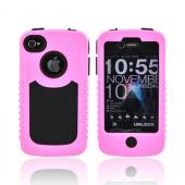 Original Trident Cyclops II AT&T/ Verizon Apple iPhone 4, iPhone 4S Rubberized Hard Case on Silicone w/ Built-in Screen Protector, CY2-IPH4-PK - Pink/ Black