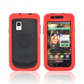 Original Trident Cyclops II Samsung Fascinate i500 Anti-Skid Hard Cover Over Silicone Case w/ Built-In Screen Protector, CY2-SFAS-RD - Red/ Black