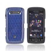 Original Dicota Blackberry Torch 9860, 9850 Hard Case, D30387 - Blue Woven Design