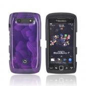 Original Dicota Blackberry Torch 9860, 9850 Hard Case, D30388 - Purple Hawaiian Flowers