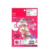 Officially Licensed Sanrio Hello Kitty DIY Decoration Art Kit w/ Flowers, Hello Kitty Face, Hearts & Beads - Pink/ White