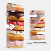 [Donut Stack] Custom Printed Heat Sublimation Design Hard Plastic Case Cover for Apple iPhone 5/5S w/ Free Screen Protector!