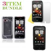 HTC Droid Incredible Bundle Package - Clear Hard Case, Silicone Case & Screen Protector - (Essential Combo)