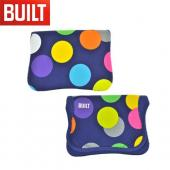 Original BUILT Amazon Kindle Fire Envelope Design Neoprene Sleeve Case, E-KE4-SDT - Multi Colored Polka Dots on Navy Blue