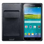 Samsung Black Flip Cover Wallet Case for Samsung Galaxy S5