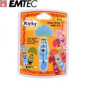 Original EMTEC 2GB Flash Drive, EKMMD2GKOGUN - Blue Gunther