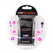 Original iFrogz EarPollution Ozone 3.5mm Stereo Headphones w/ Noise Isolating Ear Buds - Purple/Pink
