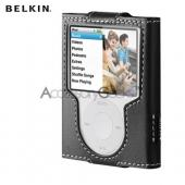Original Belkin Apple iPod Nano 3 Leather Sleeve Case - Black