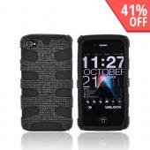 AT&T/ Verizon iPhone 4, iPhone 4S Bling Hard Fishbone on Silicone Case - Black