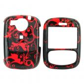 PCD Cricket TXTM8 Hard Case - Red Swirls on Black