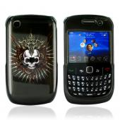 Blackberry Curve 3G 9330, 9300, 8520, 8530 Hard Case - Cross Skull on Black