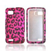 Blackberry Bold 9650 & Tour 9630 Hard Case - Hot Pink Zebra on Black
