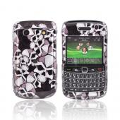 Blackberry Bold 9780 9700 Hard Case - Skulls on Black