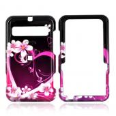 Cricket MSGM8 Hard Case - Pink Heart and Flowers on Black