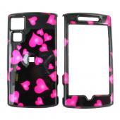 Garmin Nuvifone G60 Hard Case - Floating Hearts on Black