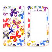 Garmin Nuvifone G60 Hard Case - Colorful Butterflies on White