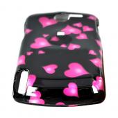 HP IPAQ Glisten Hard Case - Floating Hearts on Black