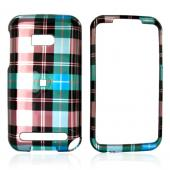 Verizon HTC Imagio Hard Case - Plaid Pattern of Blue, Brown, Green