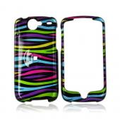 Google Nexus One Hard Case - Rainbow Zebra on Black