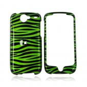 Google Nexus One Hard Case - Green/Black Zebra