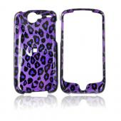 Google Nexus One Hard Case - Purple/Black Leopard Print on Purple