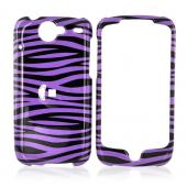 Google Nexus One Hard Case - Purple/Black Zebra