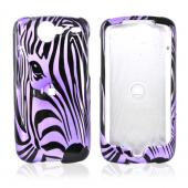 Google Nexus One Hard Case - Black Zebra Face Outline on Purple