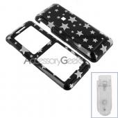 Kyocera Melo S1300 Hard Case - Silver Star on Black