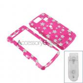 LG Versa VX9600 Hard Case - Silver Stars on Pink