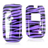 LG Helix AX310/UX310 Hard Case - Purple/Black Zebra