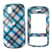 LG Shine II GD710 Hard Case - Checkered Diamonds of Blue, Green, Brown, Silver